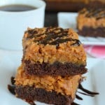 Caramel Coconut Brownies