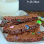 Nutella M&M Bars