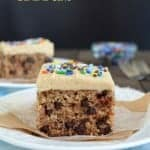 Peanut Butter Chocolate Chip Banana Cake