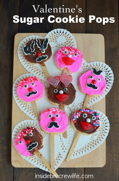 ... jelly hearts as eyebrows. And of course putting on sprinkle hair