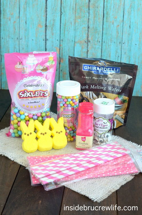 Chocolate Covered Marshmallow Bunnies supplies