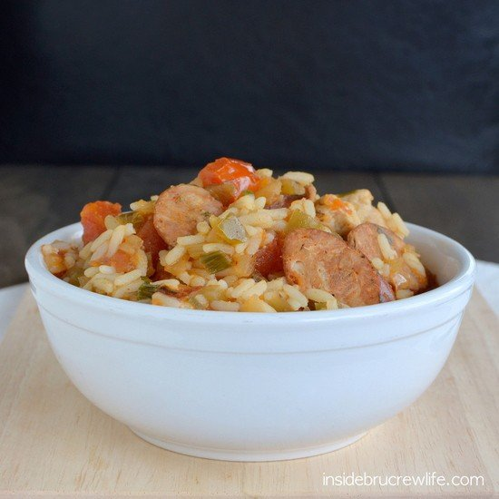 Creole Style Andouille Sausage and Chicken - easy to prepare creole style sausage and chicken crock pot meal #ad #crockpotcuisine