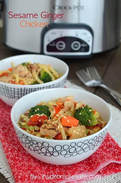 Sesame Ginger Chicken - easy chicken meal from Crock Pot Cuisine #crockpotcuisine #ad