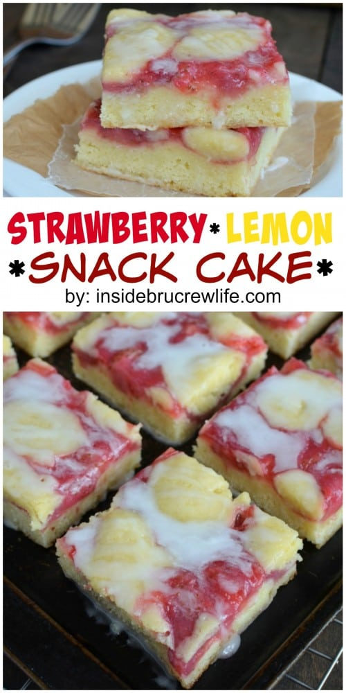 Strawberry and lemon makes this a delicious cake choice for breakfast ...