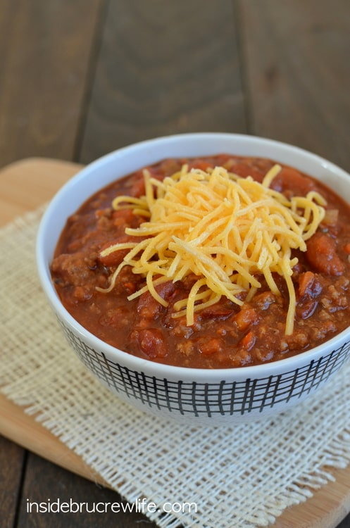 Sweet and Spicy Dr. Pepper Chili | Inside BruCrew Life