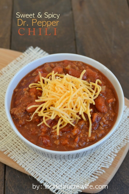 Sweet and Spicy Dr. Pepper Chili - an amazing bowl of chili that will warm you up in no time