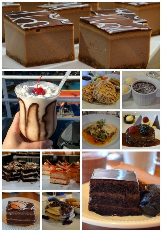 cruise collage food