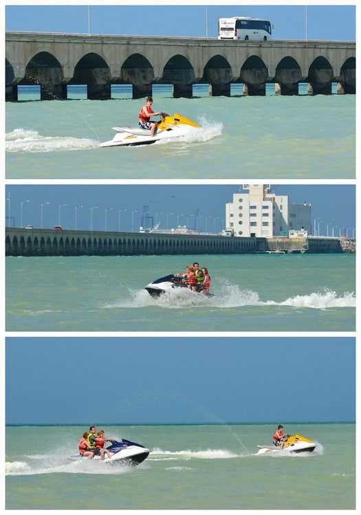 cruise collage jet ski
