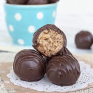Amaretto Pecan Cookie Dough Truffles