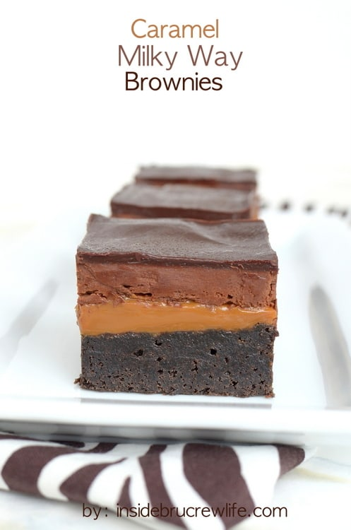 Layers of chocolate and caramel make these a brownie lovers dream come true!