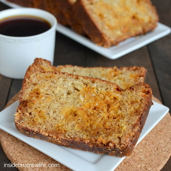 Coconut Butterscotch Banana Bread - coconut and butterscotch adds a fun twist to the classic banana bread