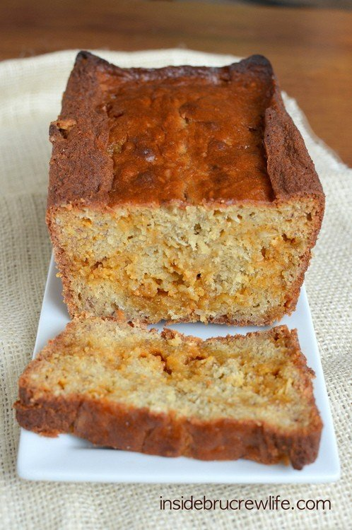 Coconut Butterscotch Banana Bread
