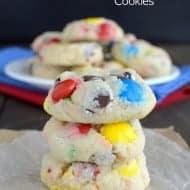 Funfetti Birthday Cake M&M Cookies