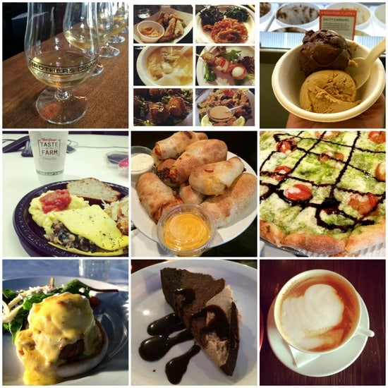 egg tour food collage