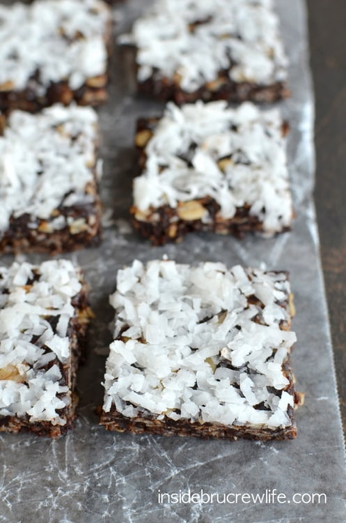 These easy no bake granola bars are the perfect healthy treat for when you are watching what you are eating!
