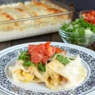 Chicken Bacon Alfredo Enchiladas