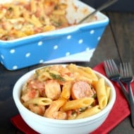 Chicken Sausage Pasta Bake