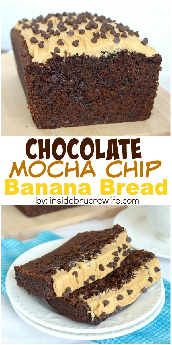 This chocolate banana bread has a delicious mocha twist. It will disappear in a day!