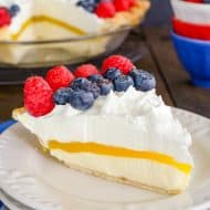Easy Lemon Cream Berry Pie