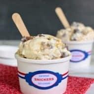 Caramel Snickers Ice Cream