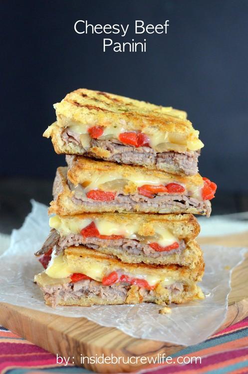 Cheesy Beef Panini title-2
