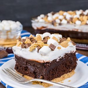 Chocolate S'mores Pudding Cake