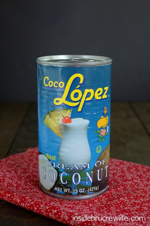 Cream of Coconut makes this creamy Coconut Cream Fruit Dip so delicious!
