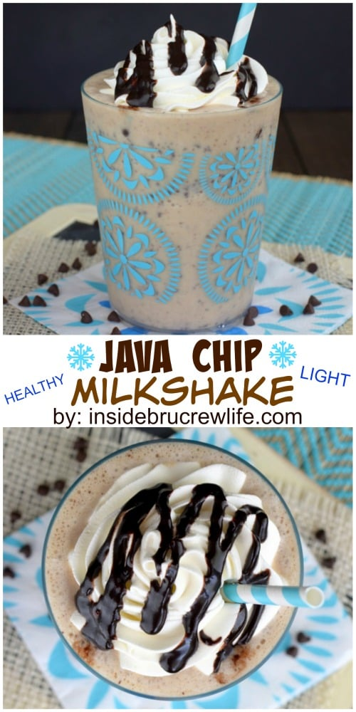 Frozen yogurt, coffee, and chocolate chips makes an amazing healthy dessert