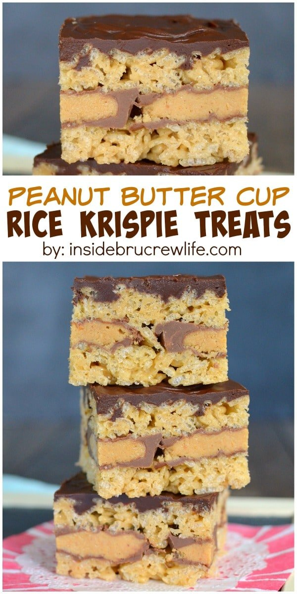 These easy no bake treats have a layer of peanut butter cup candies in ...