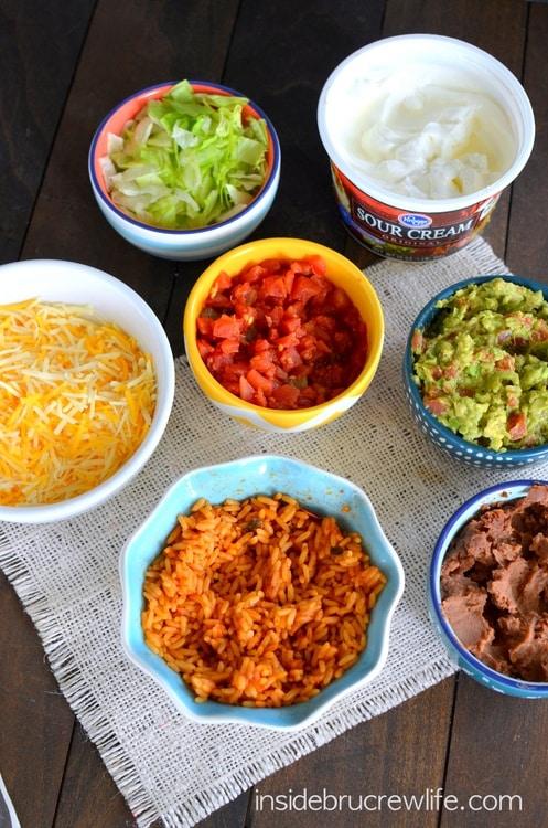 Seven Layer Burritos ingredients