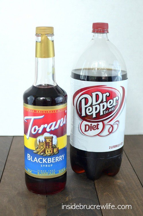 Blackerry Syrup and Diet Dr. Pepper