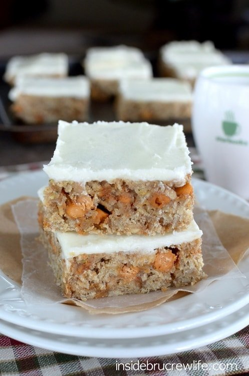 Frosted Butterscotch Zucchini Bars