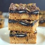 Oreo Pumpkin Gooey Bars