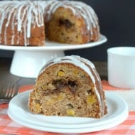 Peach Cinnamon Swirl Bundt Cake