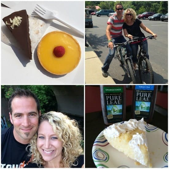 biking & desserts collage