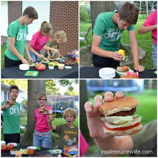 Cheddar Bacon Ranch Sliders kids making