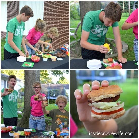Cheddar Bacon Ranch Sliders kids making