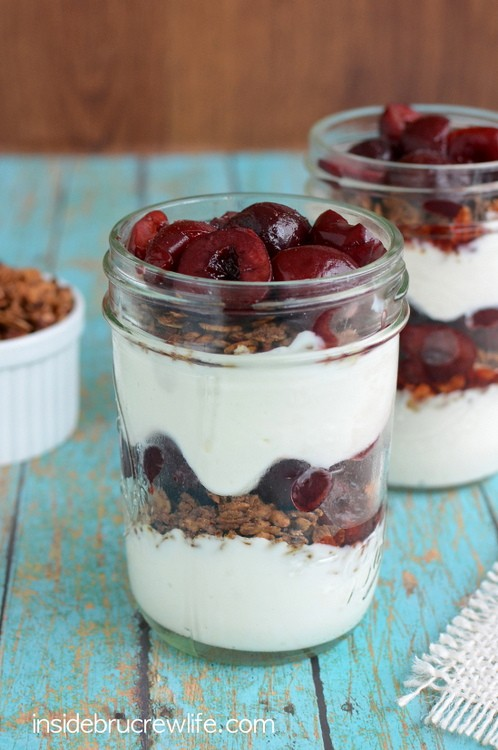 Layers of fruit, yogurt, and granola makes a quick and easy breakfast for busy mornings.