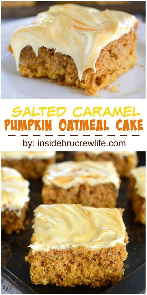 Pumpkin Chocolate Salt Caramel Cake Recipe — Dishmaps