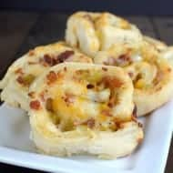 Spicy Bacon and Cheese Pinwheels