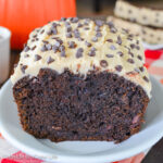Chocolate Pumpkin Bread with Caramel Frosting