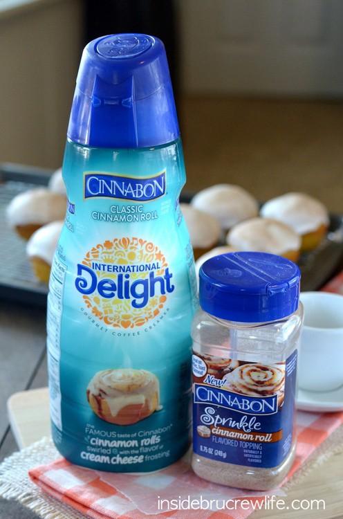 Cinnabon products used for the Cinnabon Pumpkin Muffins