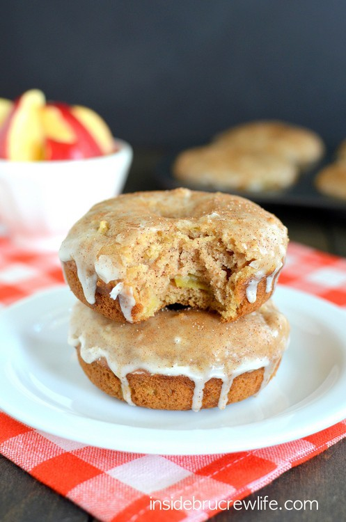 Glazed Cinnamon Apple Donuts