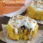 Pumpkin Pecan Cinnamon Rolls