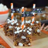 Pumpkin S'mores Rice Krispie Treats