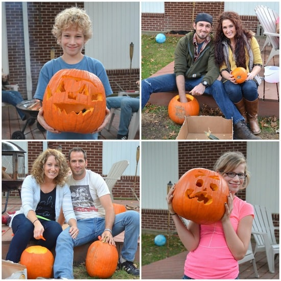 pumpkin carving collage