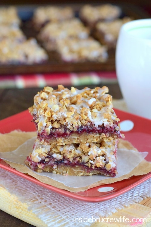 Brown butter and blackberry make these crumble bars disappear in no time!  Perfect for enjoying anytime!