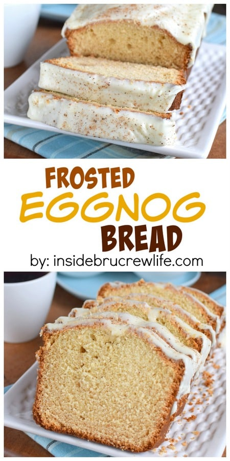 Frosted Eggnog Bread
