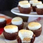 Peanut Butter Cup S'mores Brownie Bites