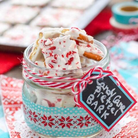 Candy Cane Pretzel Bark